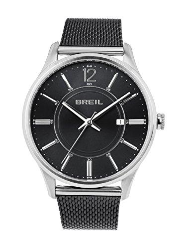 BREIL - Orologio da Uomo Elegante Contempo - Quadrante Colore Nero - Cassa...