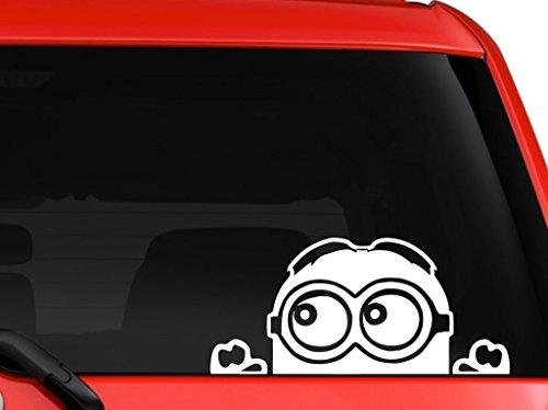 Minion Despicable Me Peeking calcomanía para Auto camión SUV Van Xbox PS4 | Blanco | 7 x 3.5 Pulgadas | CCI171