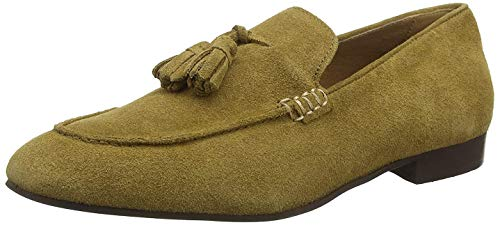 H by Hudson Herren Bolton Suede Loafer Slipper, Beige (Camel 27), 45 EU