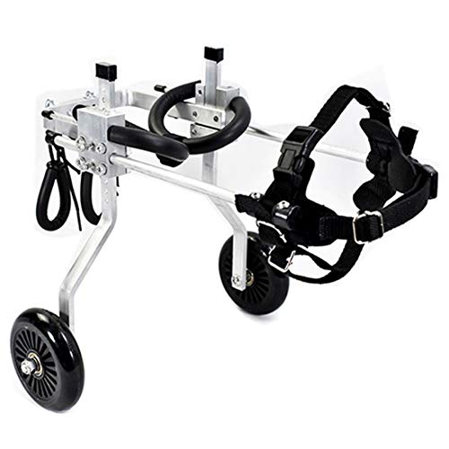Dog Pet Wheelchair, Dog Wheelchair,Size for Small Dog Adjustable Stainless Steel Cart Pet/Cat Dog Wheelchair Hind Leg - Best Friend Dog Pet Stroller (Color : XXS-2)