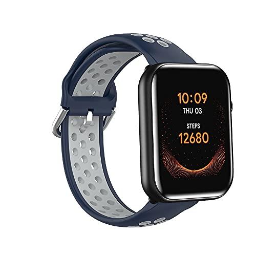 Correa de repuesto de silicona compatible con TicWatch GTH/Ticwatch 2 Smartwatch, transpirable resistente al sudor para hombres y mujeres compatible con Ticwatch E