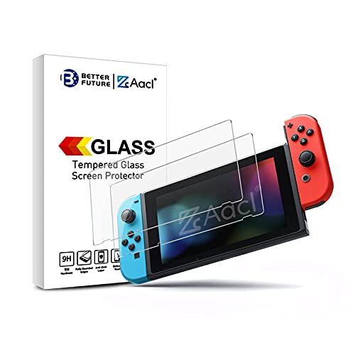 Screen Protector for Nintendo Switch 2017,2 Pack Tempered Glass Film,Ultra Clear Bubble Free