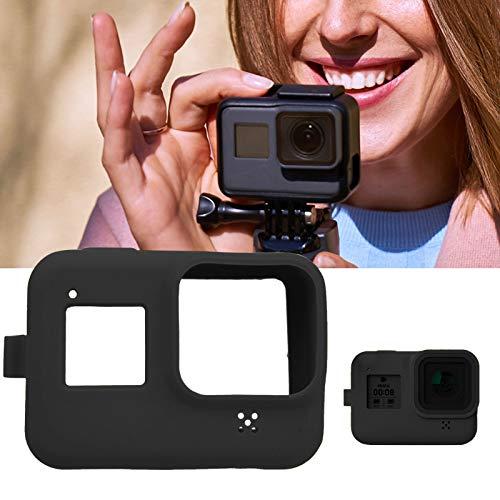 Funda protectora de silicona para cámara con absorción de impactos con correa para la muñeca para hero8(black)