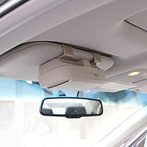 NLZQB Funda para Gafas de Coche para Audi Todos los Modelos A3 A4 B6 B8 A6 C6 80 B5 B7 A5 Q5 Q7 TT 8P 100 8L C7 8V A1 S3 Q3 A8 B9 A7 Funda para Gafas de Sol para Coche, Gris con Tarjeta