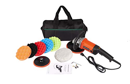 """YCGSHOP Buffer Polisher,Rotary Polisher Sander, Car Polishing Machine 10-Amp Electric 7"""" Pad with Accessory Kit 6 Variable Speeds to Buff, Polish, Smooth and Finish –Ideal for Cars, Boats"""
