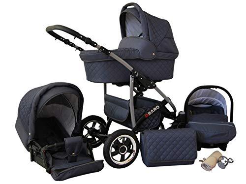 Poussette Combinée Trio landau 2en1 3en1 Isofix siège Auto Q-Step by SaintBaby graphite 2en1 sans siège bébé
