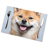 柴犬 ランチョンマット 食卓マット プレースマット おしゃれ 防汚 滑り止め 撥水 断熱 飾り お手入れ簡単 45 X 30cm 6枚セット