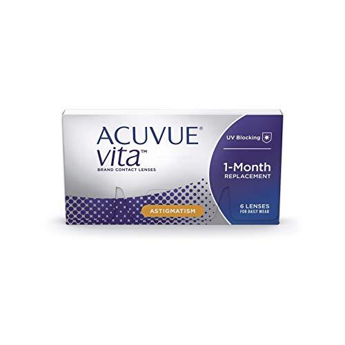 ACUVUE Vita for Astigmatism Monatskontaktlinsen mit maximalem Tragekomfort – Den ganzen Monat lang mit BC 8.6, DIA 14,5, Cyl -0,75, Ach 170 & -4,25 dpt – 6 Linsen