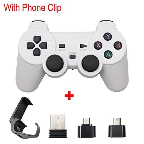 Für PS3 Wireless Gamepad 2.4G USB Joystick für Android Phone / PC / PS3 / TV Box Joypad Game Controller für Xiaomi Smartphone Whitewithstand