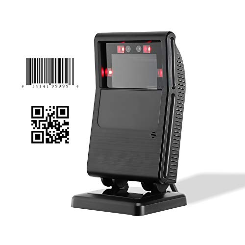 1D 2D Omnidirectional Barcode Scanner Automatic Scanning, Accurate Sensor, 1200Scans/sec, MUNBYN USB Wired QR Code Scanner Handsfree, Compatible with Windows, Mac, Linux 3d barcode scanner