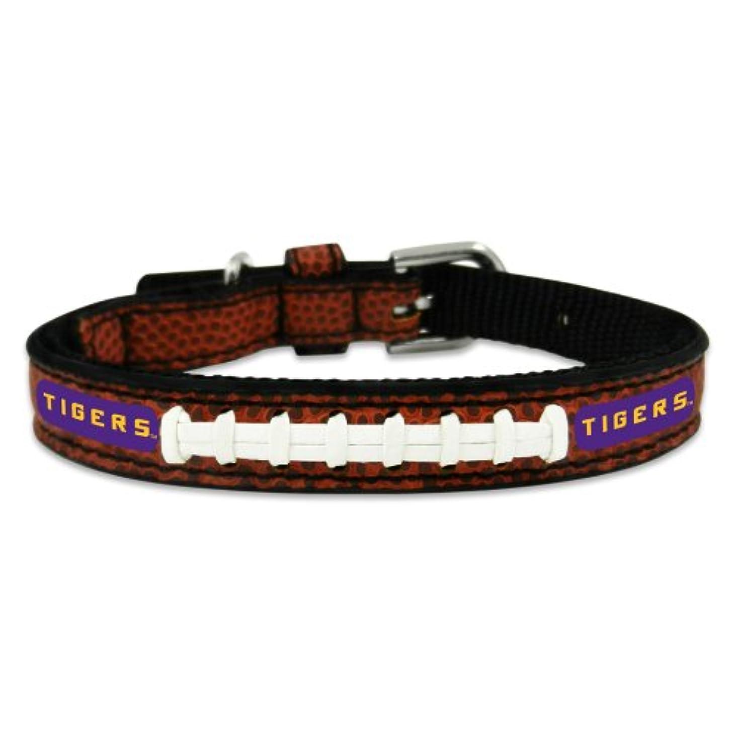 メイド解明するポータルLSU Tigers Classic Leather Toy Football Collar