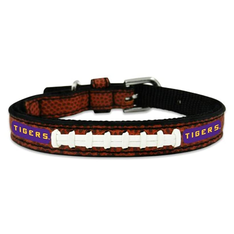 放課後リムレイアウトLSU Tigers Classic Leather Toy Football Collar