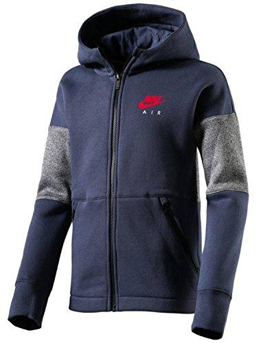 Nike Jungen Air Full Zip Hoodie Sweatshirt, Thunder Blue/University Red, S