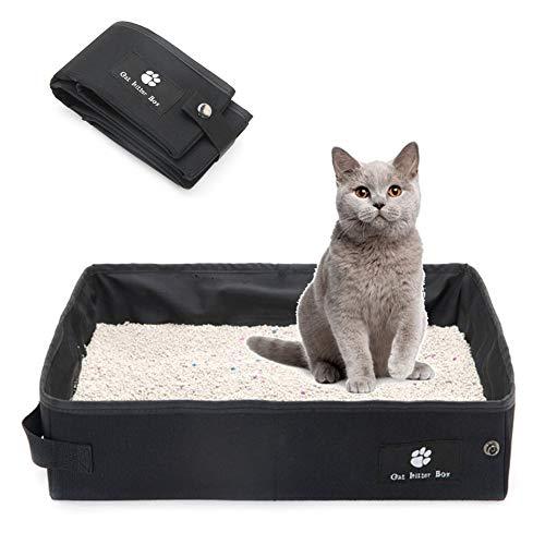 Minjie lettiera pieghevole per gatti, da viaggio, leggera, pieghevole, portatile, impermeabile, 40 x 30 x 10 cm, 45 x 35 x 12,5 cm