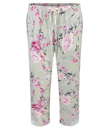 Short Stories Damen Pyjamahose 3/4-Länge Mint (47) XS
