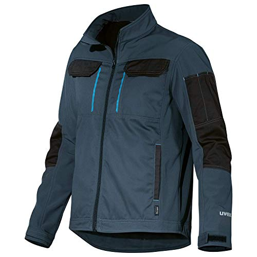 Uvex Tune-Up softshell Work Jacket da lavoro in softshell per uomo - Traspirante e idrorepellente - Blu
