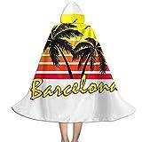 NUJIFGYTCRD Barcelona - Capa con Capucha, Unisex, para Halloween, Navidad, Fiestas, Disfraces de Cosplay