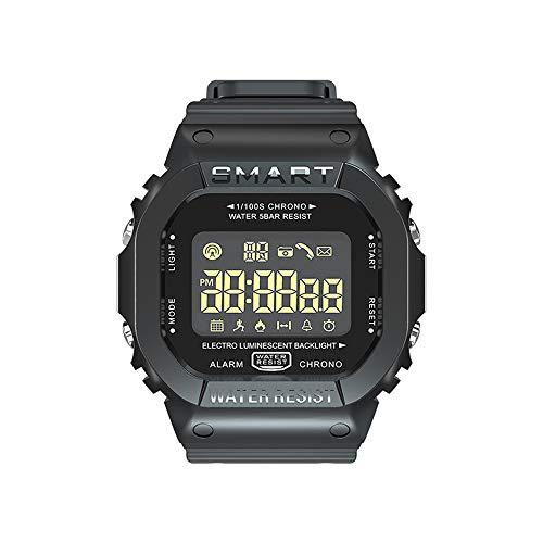 Lepeuxi LOKMAT MK22 Smart Bracelet BT Smart Men Watch Sport Fitness Pedometer Resistenza all'Acqua Promemoria Orologio SmartWatch Digitale per Telefono Android iOS