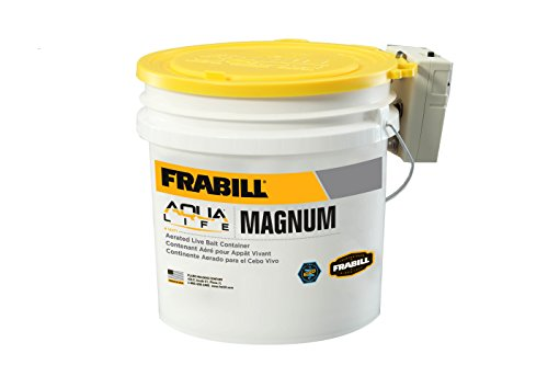 Frabill MIN-O2-LIFE Aerated Bait Bucket, 4.25-Gallon with Aerator, Multi, Model:14071
