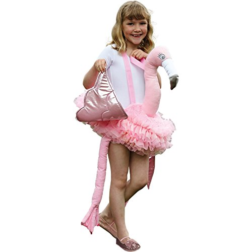 amscan Flamingo Huckepackkostüm für Kinder Karneval rosa Einheitsgröße