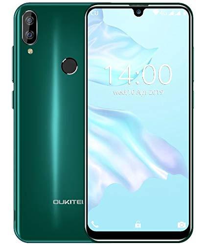 """(2019) 4G Smartphone ohne vertrag, OUKITEL C16 Pro Android 9.0 Handy - MT6761 Quad-Core 2.0GHz 3GB +32GB, 5,71""""Wassertropfen Bildschirm, Gesichtserkennung& Fingerabdrucksensor Entsperren Grün"""