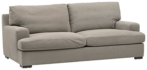 Amazon Brand – Stone & Beam Lauren Down-Filled Oversized Sofa Couch with Hardwood Frame, 89'W, Slate