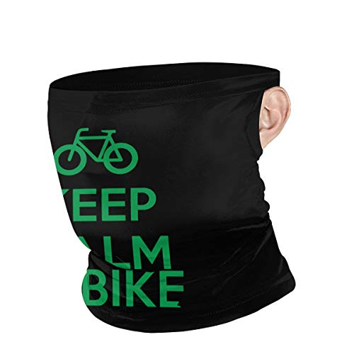 Keep Calm and Ride A Bike Unisex Anti-Dust Face Mouth Mask to Prevent The Fog Black