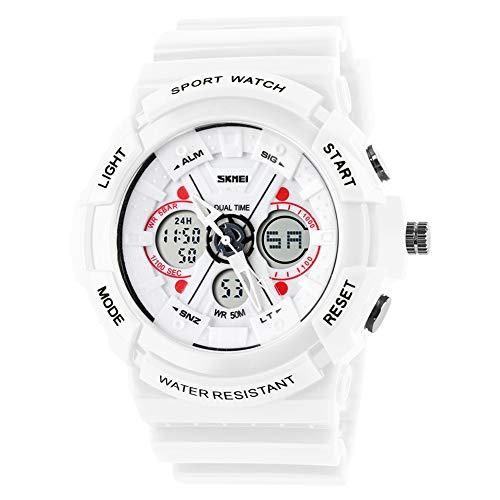 FeiWen Digitales Relojes Deportivos de Unisex Outdoor Militar Multifuncional 50M Impermeable Cuarzo...