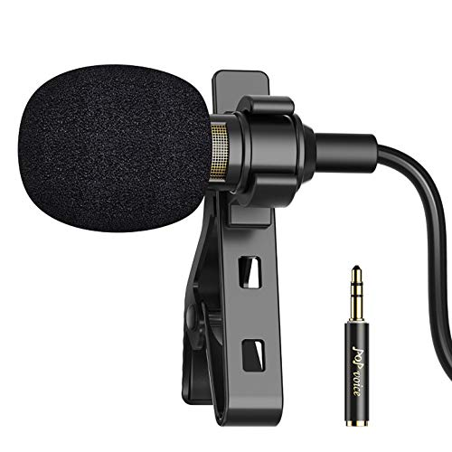 PoP voice 16 Feet Single Head Lavalier Lapel Microphone Omnidirectional Condenser Mic for iPhone Android & Windows Smartphones, YouTube, Interview, Studio, Video Recording, Noise Cancelling Mic