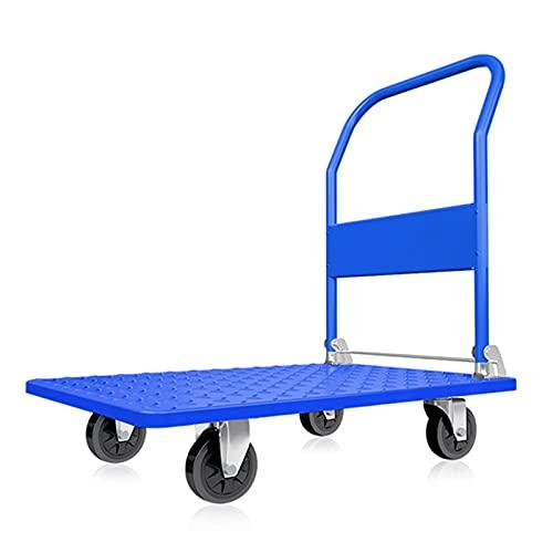 Carretillas Plataforma Carro De Empuje Portátil Plegable con Ruedas Silenciosas, Carretillas De Mano con Plataforma De Acero De Alta Resistencia, para Facilitar El Transporte/Levantar Objetos Pesado