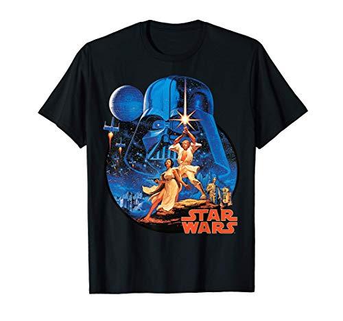 Star Wars Vintage Poster Art Circle Camiseta