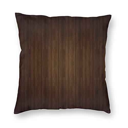 FULIYA Juego de fundas de cojín de algodón para el hogar, sofá, silla, 45 x 45 cm, parquet, madera, superficie y tabla.