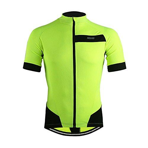 M.Baxter Sommer Fahrradbekleidung Herren Fahrradtrikot Kurzarm Sportbekleidung Full-zip Radsport Jersey Team Shirt Fitness