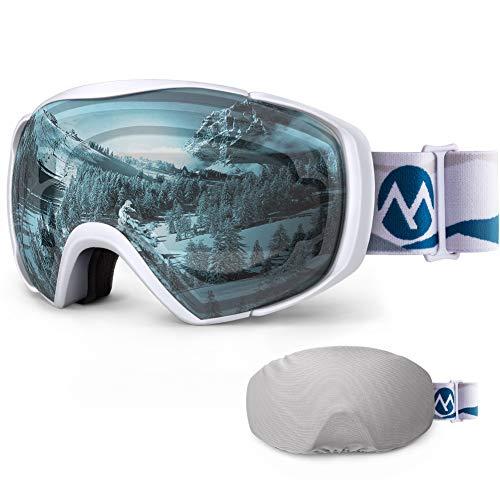 Ski Goggles with Cover Snowboard Goggles OTG Anti-Fog for Men Women - VLT 85.1%