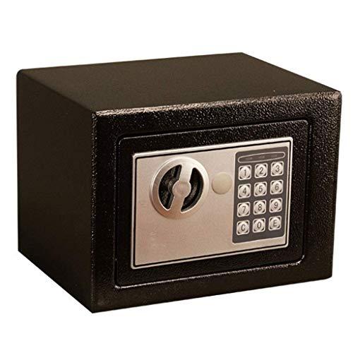 Sicherheitstresor für das Büro zu Hause mit Tastensperre, Tresor, Stahlkonstruktion Elektronisches Passwort Feuchtigkeitsgeschützter Schlüssel Alarm Funktion 20 * 31 * 20cm Schwarz