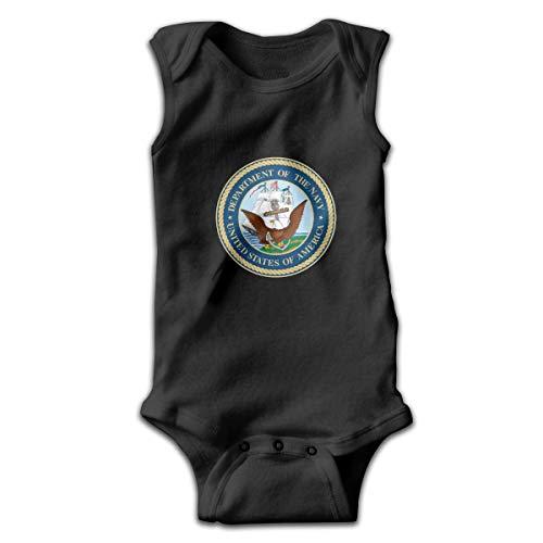 Klotr Estados Unidos Departamento de la Marina de los EE. UU. Insignia de Foca Bebé recién Nacido Body sin Mangas Mamelucos Trajes