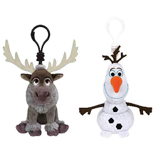 TY Frozen II Clip Set - Sven & Olaf