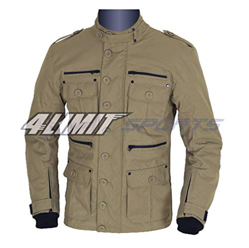 4LIMIT Sports Motorradjacke GENTLEMAN Outdoor Textil Jacke navy-braun