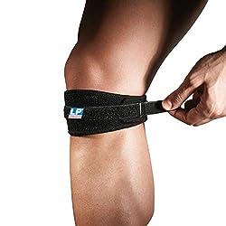 LP Support 769 Patellabandage (Knieband) mit Umlenkschlaufe - Patellagurt Sport, Größe:Universalgröße, Farbe:schwarz