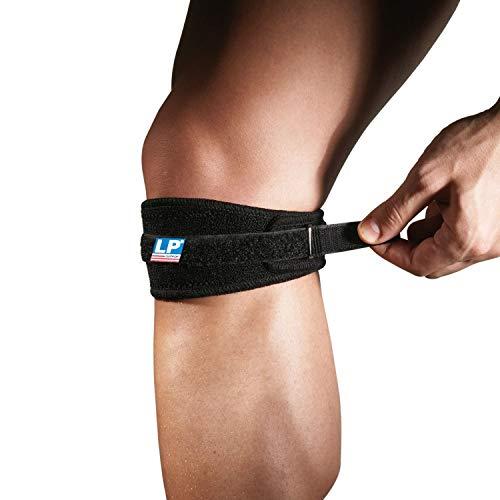 LP Support 769 Patellabandage (Knieband) mit Umlenkschlaufe - Patellagurt Sport, Größe:Universalgröße, Farbe:2 x schwarz