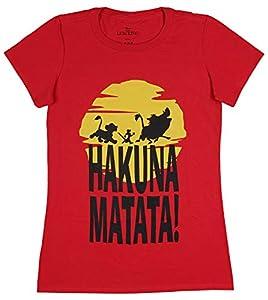 Disney The Lion King Hakuna Matata Trio Sunrise Silhouette Simba Timon and Pumbaa Juniors T-Shirt