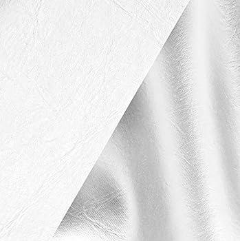 VViViD White Weatherproof Faux Leather Finish Marine Vinyl Fabric  10ft x 54