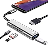RREAKA USB C to HDMI Adapter for Samsung DeX,Desktop Experience for Galaxy S21/S20/S20 FE/Note20/Note10/TabS7/S6,DeX Station with 4K HDMI ,USB3.0,Type-C Charging,SD/TF Card Reader,Nintendo Switch