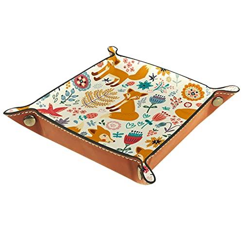 Foxes - Caja organizadora de animales para casa, oficina, viaje, cafetería, etc