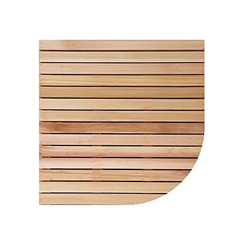 Lanrui Estera de baño de baño, Estera de Ducha Antideslizante, tableros de Pato Baño, Accesorios de baño en Forma de Ventilador, Personalizable (Color : Unpainted, Size : 80x80cm)