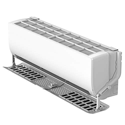 Ecisi Einstellbarer Luftabweiser mit Filter, Adsorptionsklimaanlage Deflektor Klimaanlage Windschutzscheibe, Raffinerie Luftabweiser Luftflügelauslass für zu Hause