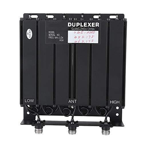 Tosuny Duplexor repetidor UHF con múltiples filtros de Banda de Parada Duplexor UHF 50W Duplexor de 6 cavidades Duplexerx UHF para repetidor de Radio, TX: 455.175 RX: 465.175 Conector N