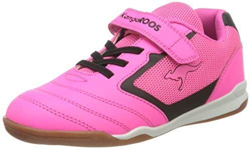 KangaROOS Race Comb EV Sneaker, Neon Pink/Jet Black 7018, 34 EU