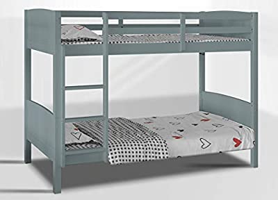 Visco Therapy Domino 3FT Kids Bunk Bed available in Grey and White HEAVY DUTY SPLIT INTO 2 SINGLE BEDS,BUNK BED FOR KIDS CHILDREN