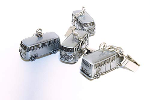 BRISA VW Collection Volkswagen T1 Bus Transporter 3D Tafelkleed Gewichten 4-pc Set - Vintage Zilver